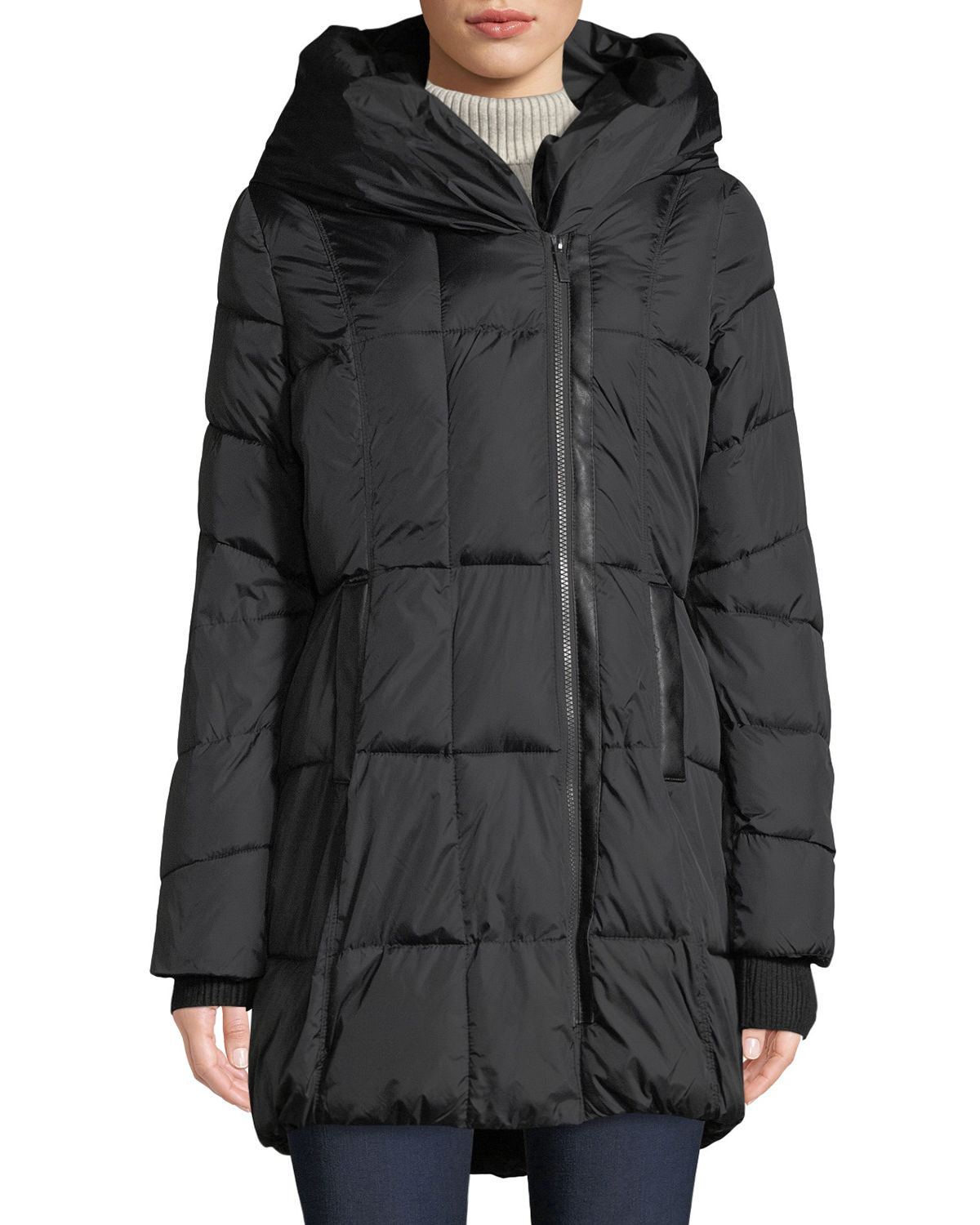 Quilted Hooded Zip-Up...