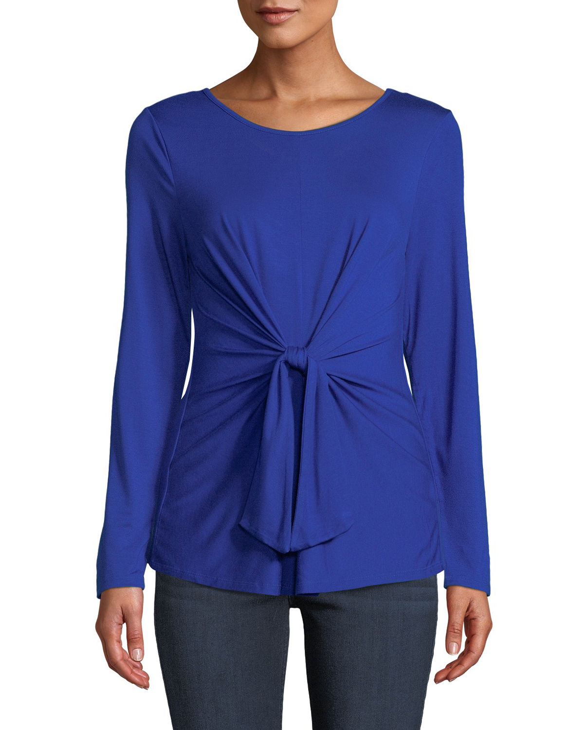 Tie-Front Long-Sleeve Tee