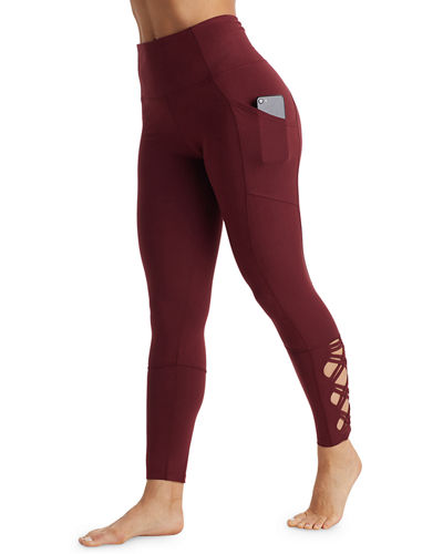 High-Rise Laced Ankle Performance Leggings