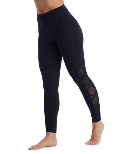 Celeste Strappy Mesh-Calf Long Leggings