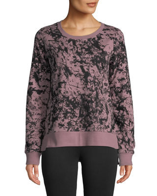 MARC NY PERFORMANCE French Terry Printed Sweatshirt in Purple