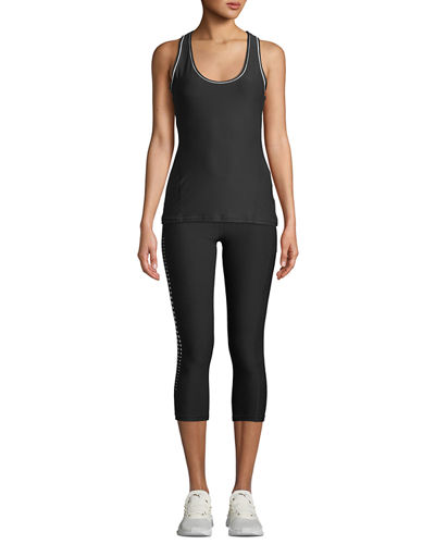 Slim Body Fit Piped Tank Top