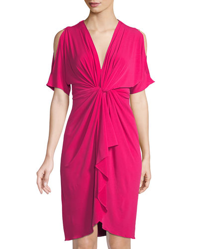 Catherine Catherine Malandrino Short-Sleeve Cold Shoulder Dress