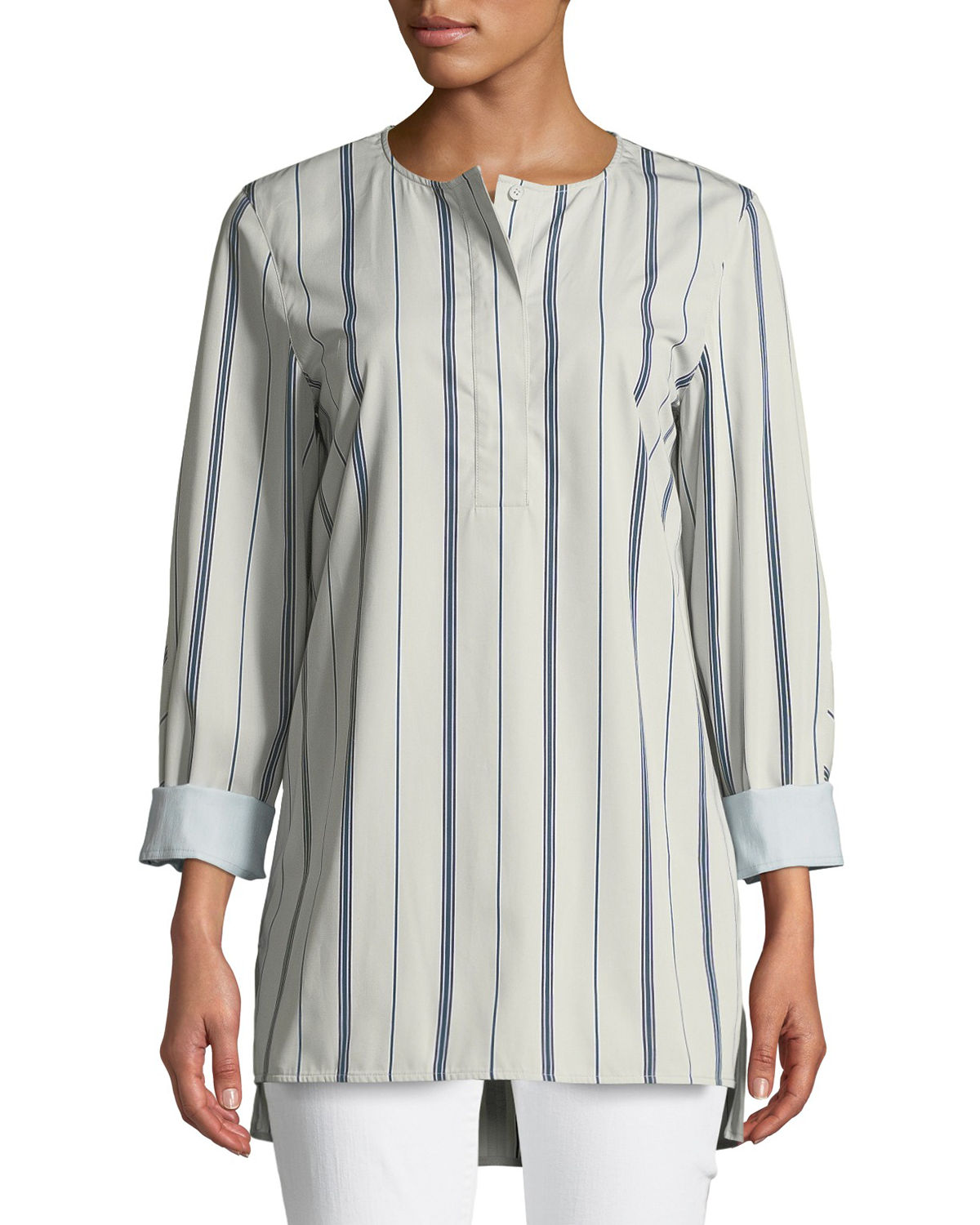 Lafayette 148 Tops TILLY SONORAN STRIPED BLOUSE