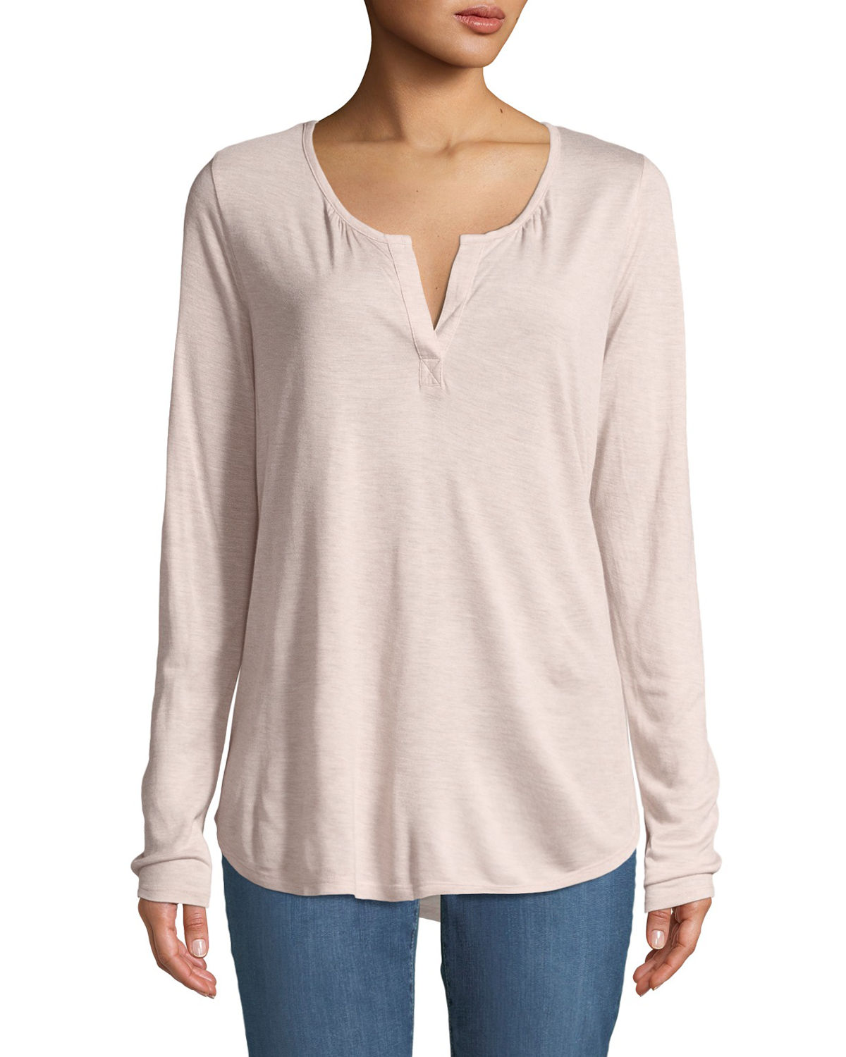 Split-Neck Henley Tee