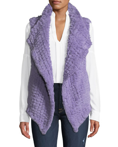 Faux-Fur Shawl-Collar Vest