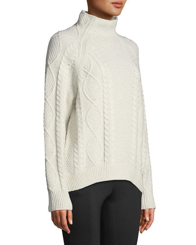 b00d9dbbc775 Vince Oversized Cable-Knit Turtleneck Sweater