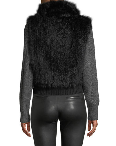 Knitted Fur Pullover Vest