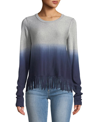 GO SILK Go Out On The Fringes Sweater in Multi