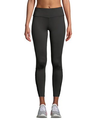 TAHARI SPORT Billy Lace-Up Performance Leggings in Black