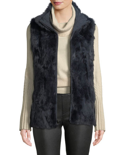Reversible Fur-to-Nylon Vest