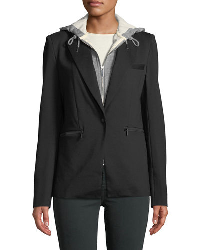 Bagatelle Twofer Hooded Blazer Jacket