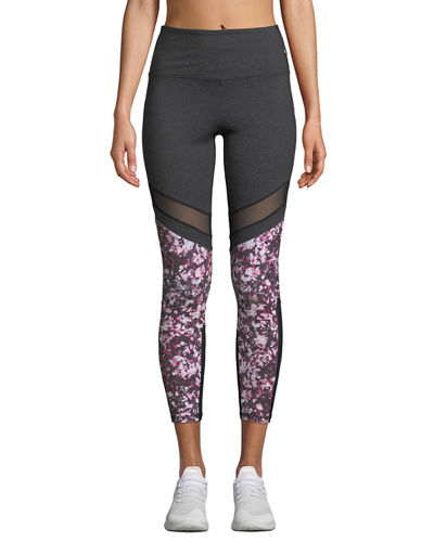 Venus Floral Print High-Waisted Leggings