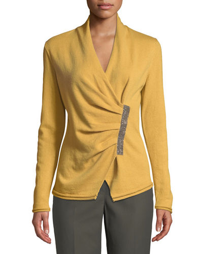 Lafayette 148 New York Asymmetric Cashmere Sweater W/