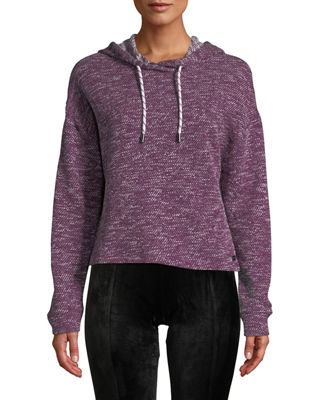 MARC NY PERFORMANCE Heritage Loop Marled Terry Hoodie in Purple