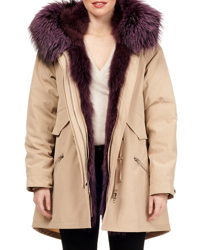 Fox Fur Parka Jacket