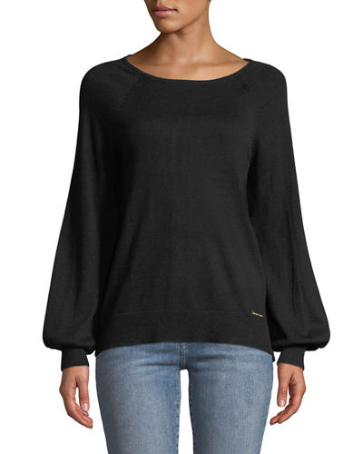 MICHAEL Michael Kors Boat-Neck Long-Sleeve Sweater