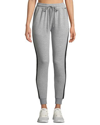 TAHARI SPORT Striped Slim-Fit Jogger Pants in Gray