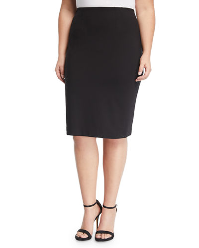 Logan Knit Pencil Skirt  Plus Size