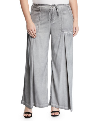 Holden Wide-Leg Utility Pocket Pants  Plus Size