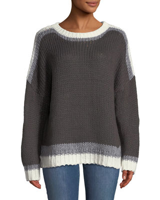 SHANTY Midtown Long-Sleeve Jumper in Charcoal