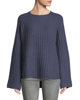 SHANTY Barrington Crewneck Pullover Sweater in Charcoal