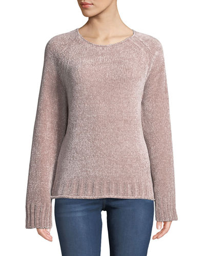 Long-Sleeve Chenille Sweater