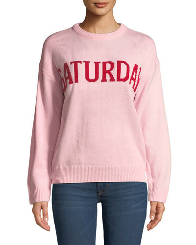 Days of the Week Embroidered Sweater