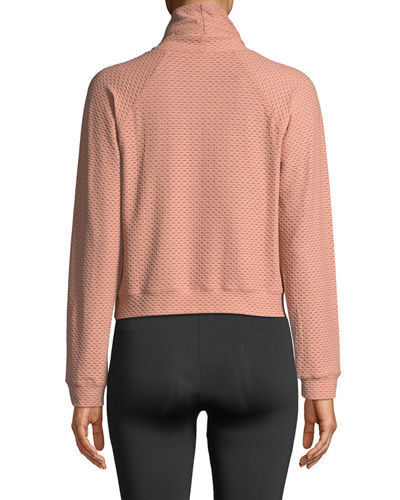 Pump High-Neck Long-Sleeve Sweatshirt