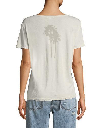 Palm Tree Cotton Graphic Tee
