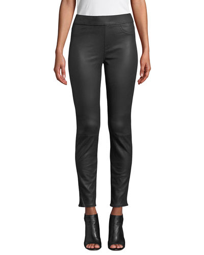 Comfort Leather-Like Ponte Skinny Jeans