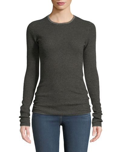 Cashmere Striped Ribbed Top