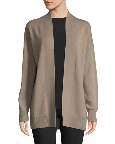 Wool-Blend Drop-Shoulder Cardigan