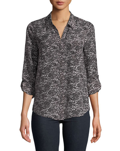 Booker V-Neck Printed Blouse