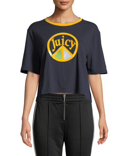 Juicy Couture Juicy Peach Cropped Graphic Tee