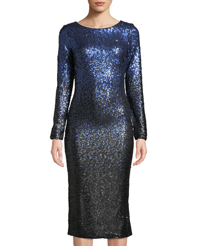 Emery Sequin Cocktail Midi Dress