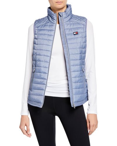 Quilted Zip-Front Puffer Vest