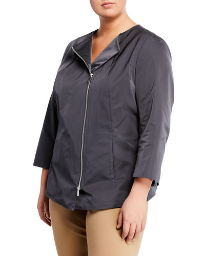 Rashida Zip-Front Jacket  Plus Size