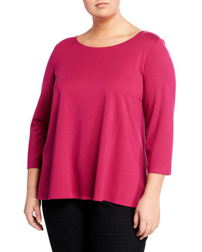 Back-Pleat Top  Plus Size