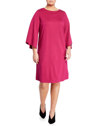 Fabiana Tulip-Sleeve A-line Dress  Plus Size