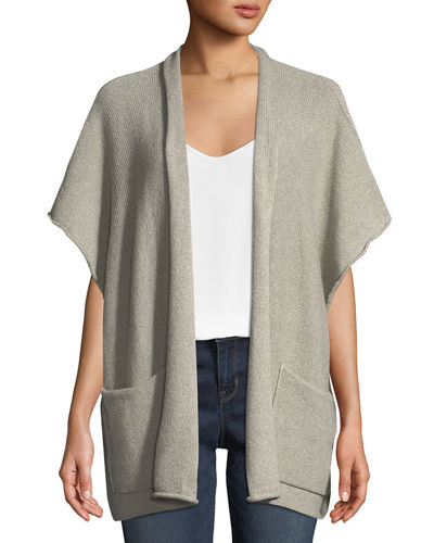 Cashmere Rolled Front Tabard Cardigan