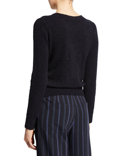 Boxy-Fit Textured Sweater