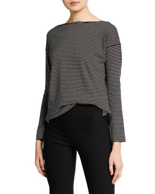 Pencil Stripe Long Sleeve T Shirt by Vince