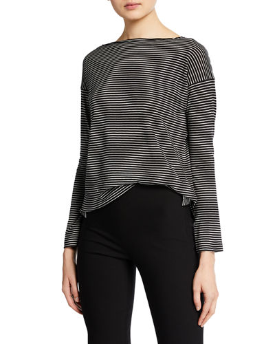 Pencil-Stripe Long-Sleeve T-Shirt