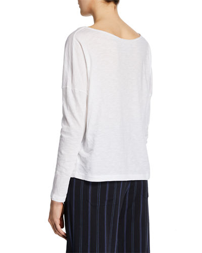 Long-Sleeve Drop-Shoulder T-Shirt