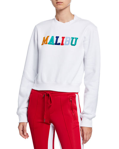 Muse Cropped Cotton Sweatshirt