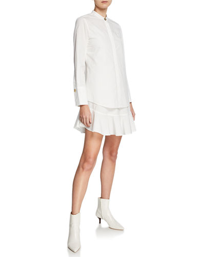 Derek Lam 10 Crosby 2-in-1 Solid Shirtdress with