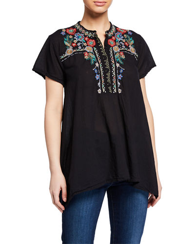 Johnny Was Mikones Hinga Embroidered Tunic