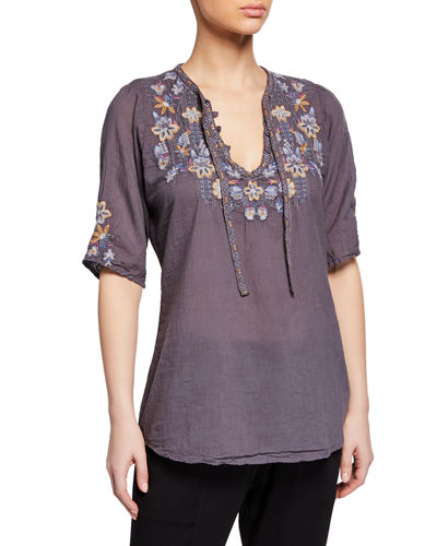 Johnny Was Tanya Tonal Voile Blouse