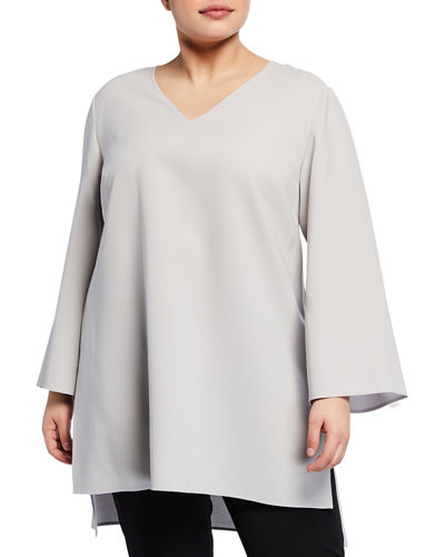 Jazlene V-Neck Tunic  Plus Sizw